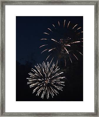 Fireworks 2014 Viii Framed Print by Suzanne Gaff