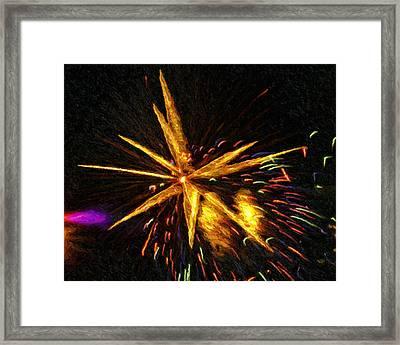 Fireworks As I See Them  3 Framed Print by F Leblanc