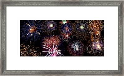 Fireworks Background Framed Print by   CursedSenses