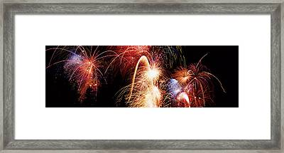 Fireworks Display, Banff, Alberta Framed Print by Panoramic Images