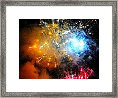 Fireworks Finale Framed Print by Diana Angstadt