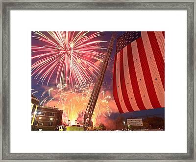 Fireworks Framed Print by Jim DeLillo