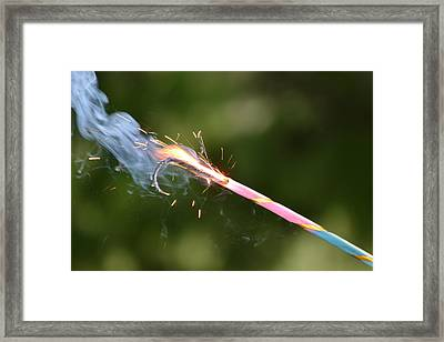 Fireworks Framed Print by Kim Stafford