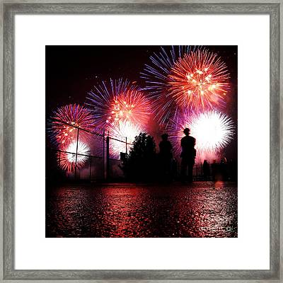 Fireworks Framed Print by Nishanth Gopinathan