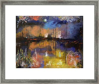 Fireworks Framed Print by Michael Creese