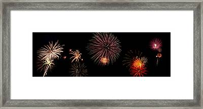 Fireworks Panorama Framed Print by Bill Cannon