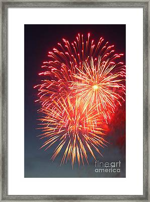 Fireworks Series II Framed Print by Suzanne Gaff