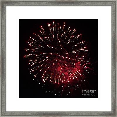 Fireworks Series Ix Framed Print by Suzanne Gaff
