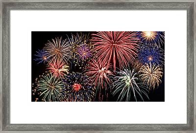 Fireworks Spectacular IIi Framed Print by Ricky Barnard
