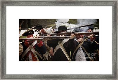 Firing Line Revolutionaries Framed Print by Mark Miller