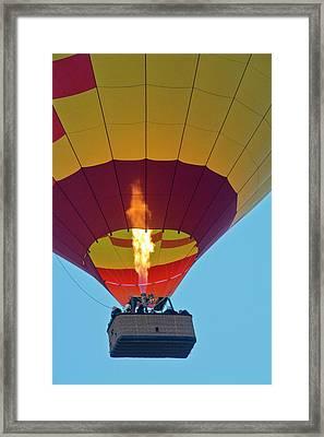 Firing Up, Taking Off, Ballooning Framed Print by Michel Hersen
