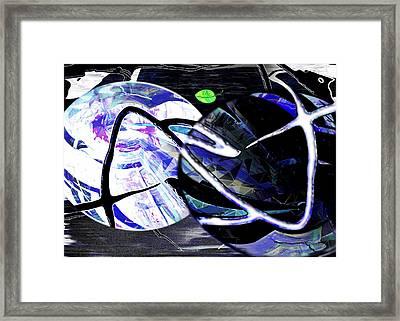 Firmament Cracked #1 Confusing Dark And Light Framed Print by Mathilde Vhargon