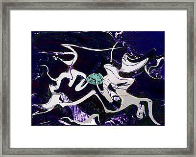 Firmament Cracked #11 Tapestry Of Pain Framed Print by Mathilde Vhargon