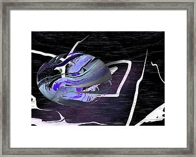 Firmament Cracked #5 - Hanging Hollow Framed Print by Mathilde Vhargon