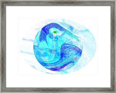 Firmament Cracked #7 - Beautiful Illusion Framed Print by Mathilde Vhargon