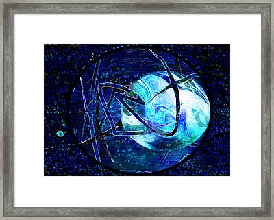 Firmament Cracked - #8 Rear Window Framed Print by Mathilde Vhargon