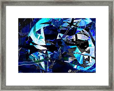 Firmament Cracked #9 - All Which Once Was Beautiful Framed Print by Mathilde Vhargon