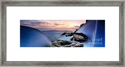 Santorini Sunset Framed Print by Rod McLean