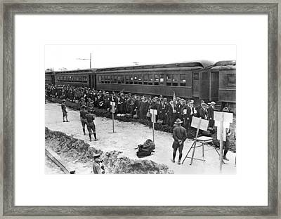 First American Wwi Conscripts Framed Print by Underwood Archives