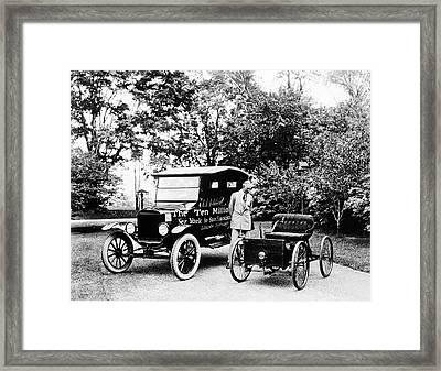 First And Ten Millionth Ford Cars Framed Print by Library Of Congress