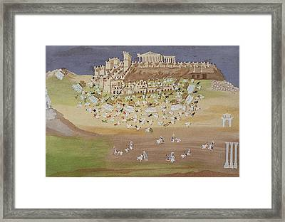 First Battle Of Athens In 1826 Framed Print by Greek School