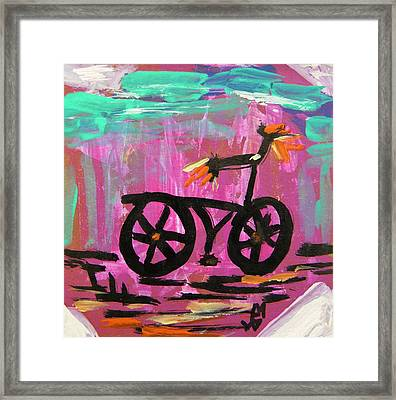 First Bike Framed Print by Mary Carol Williams