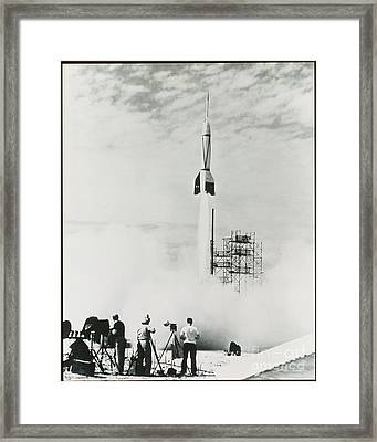 First Cape Canaveral Rocket Launch Framed Print by NASA Science Source