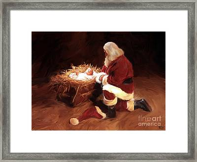 First Christmas Framed Print by Mark Spears