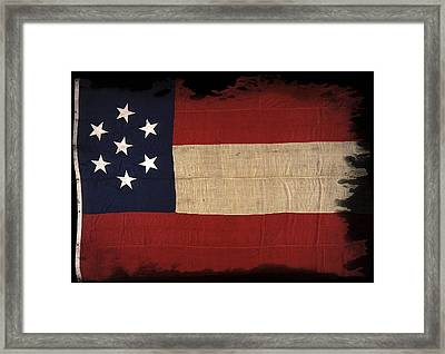 First Confederate Flag Framed Print by Daniel Hagerman
