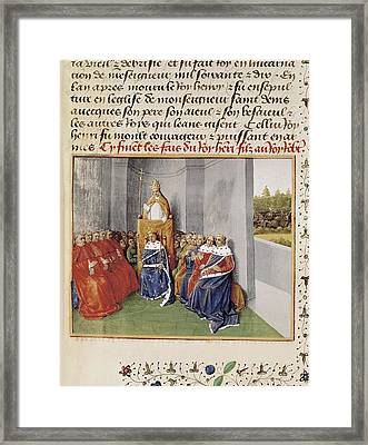 First Crusade. Council Of Clermont Framed Print by Everett