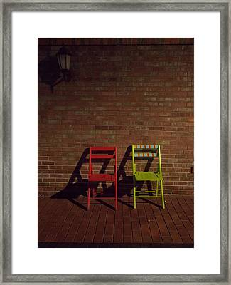 First Date Framed Print by Guy Ricketts