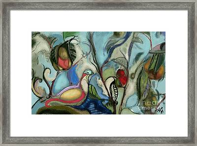 First Day Of Christmas Framed Print by Carrie Joy Byrnes