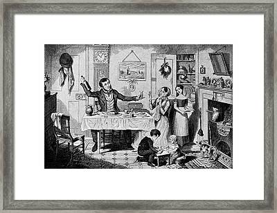 First Drink Framed Print by British Library