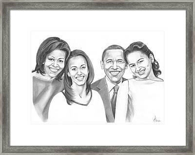 First-family 2013 Framed Print by Murphy Elliott