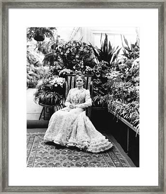First Lady Ida Mckinley Framed Print by Underwood Archives