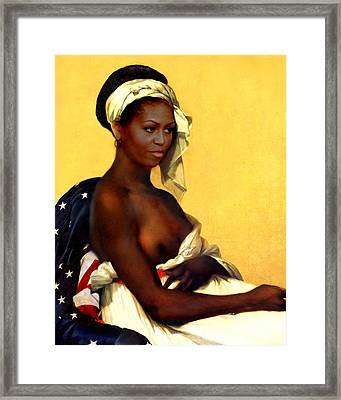 First Lady Framed Print by Karine Percheron-Daniels