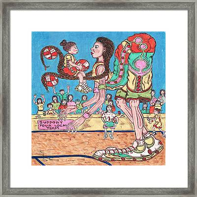 First Lesson Framed Print by Richard Hockett