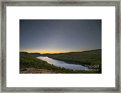 First Light At Lake Of The Clouds Framed Print by Twenty Two North Photography