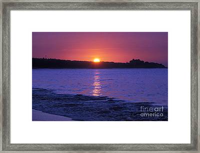 First Light Framed Print by Dan Holm