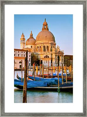 First Light Of Dawn On The Santa Maria Framed Print by Brian Jannsen