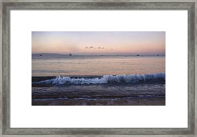 First Light On Ma'alaea Bay Framed Print by Trever Miller