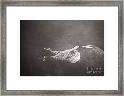 First Light On Mount Blanc Framed Print by Juergen Klust