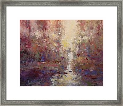 First Light On The Tule River Framed Print by R W Goetting