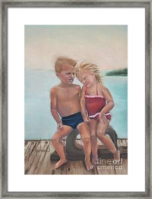 First Love Framed Print by Leah Wiedemer