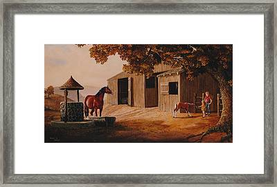 First Meeting Framed Print by Duane R Probus