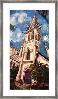 First Methodist Huntsville 2 Framed Print by Carole Foret