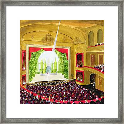 First Night Oil On Board Framed Print by Mark Baring