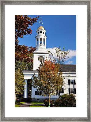 First Parish Church, Members Included Framed Print by Brian Jannsen