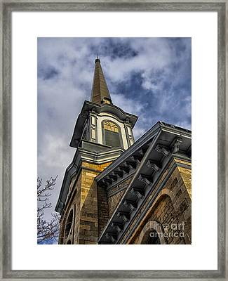 First Presbyterian Church Of Newton New Jersey Framed Print by Mark Miller