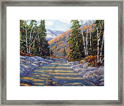 First Snow By Prankearts Framed Print by Richard T Pranke